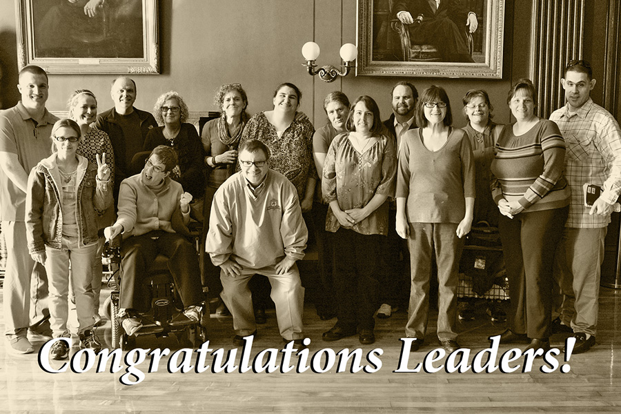 2015 Leadership Series class at the RI State House