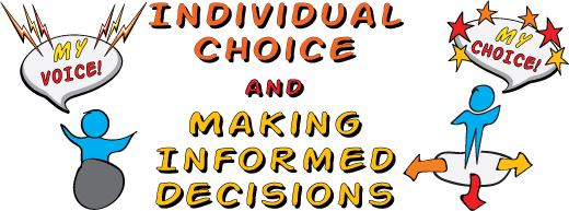 Individual choice and making informed decisions. Click this link to open the PDF flyer for the event on March 30th