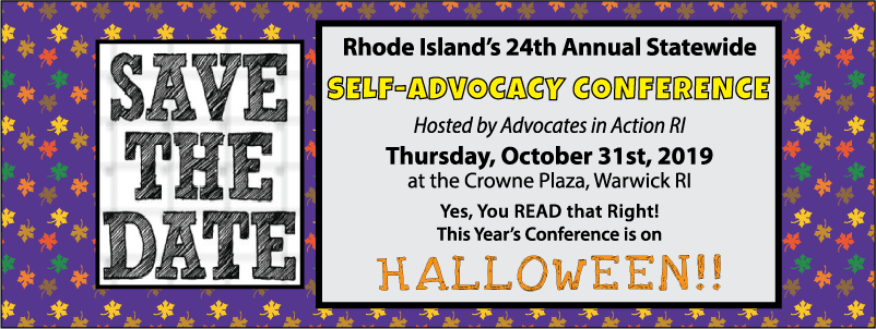 Save the Date for RI's 24th Annual Statewide Self-Advocacy Conference