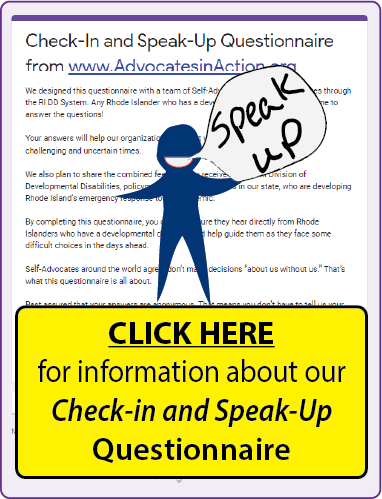 click here for information about our Check-In and Speak-UP questionnaire